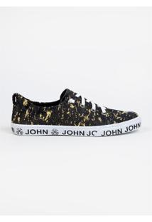 Tênis John John Heaven Yellow Denim Strech Amarelo Feminino (Amarelo Claro, 34)