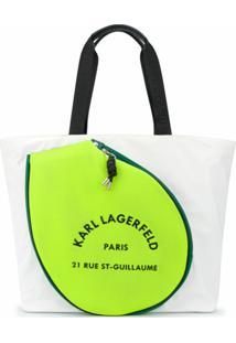 Karl Lagerfeld Bolsa Tote Rue St Guillaume - Branco