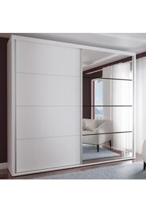 Guarda-Roupa Casal 2 Portas Com 1 Espelho 100% Mdf 1912E1Sa Branco - Foscarini