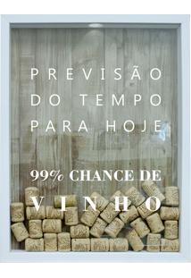 Quadro Porta Rolhas 32X42 65338-Kapos - Branco