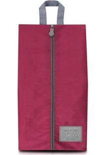 Bolsa Jacki Design Porta Sapato De Poliéster - Unissex-Vermelho Escuro