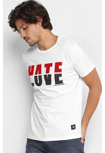Camiseta Ellus 2Nd Floor Hate Love Masculina - Masculino