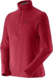 Blusa Salomon Polar 12 Zip Ii Masculino Vermelho M
