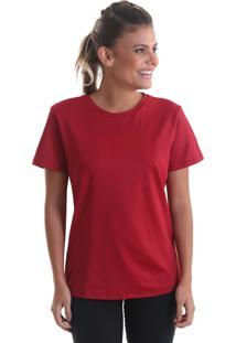 Camiseta Fresh Nossas Cores Vermelho Escuro Praaiah