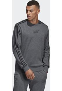 Blusa Adidas Moletom Polo Real Madrid Seasonal Special Crew Masculina - Masculino