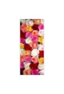 Adesivo Decorativo De Porta - Rosas Coloridas - 066Cnpt Auto Colante
