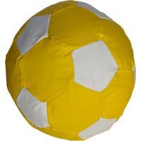 745c4b900c Puff Ball Futebol Infantil Pop Cipaflex Amarelo E Branco Stay Puff