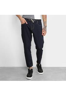 Calça Jeans Colcci John Cropped Masculina - Masculino-Azul Escuro