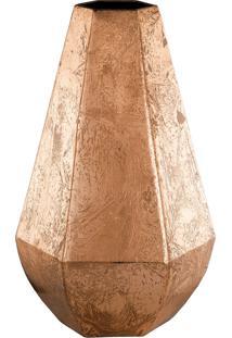 Vaso Em Metal Cobre 30,5Cm Cobre