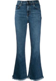 J Brand Cropped Jeans - Azul