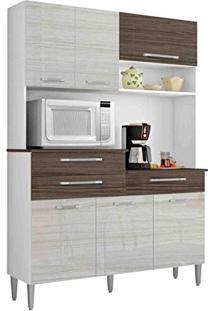 Armário De Cozinha Orion Kit'S Paraná Branco/Rovere/Cp-Dubai