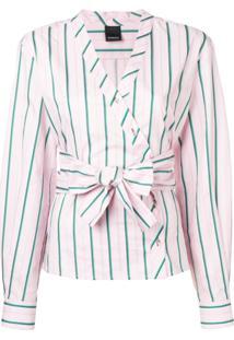 Pinko Blusa Listrada - Rosa