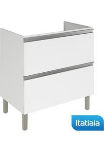 Módulo Cozinha Gabinete Sem Tampo Clarice 1 Porta E 1 Gaveta - Igh1G1-80Cook - Branco - Aço - Itatiaia