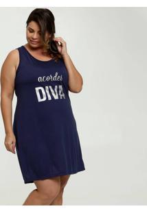 Camisola Feminina Nadador Estampa Foil Plus Size Marisa