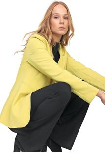 Blazer Colcci Reta Amarelo - Kanui