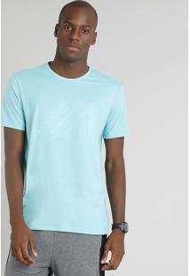 Camiseta Masculina Esportiva Ace Manga Curta Gola Careca Verde Claro