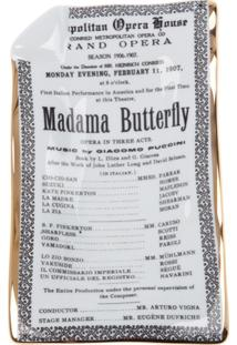 Fornasetti Bandeja Cinza Modelo 'Madama Butterfly'. - Grey