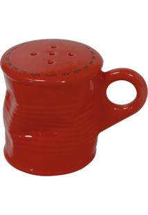 Saleiro Lata Amassada 90G Cerâmica Vermelha Mondoceram Gourmet