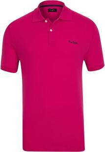 Polo Details Pontilhado Pink