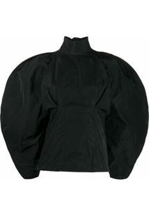 Givenchy Blusa Oversized De Tafetá - Preto