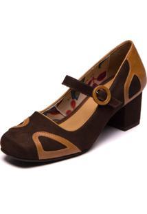 Sapato Brenda Lee - Cafe / Tamarindo 7313