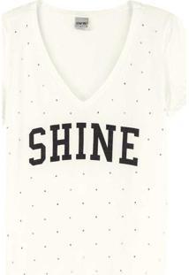 Blusa Off White Ampla Shine