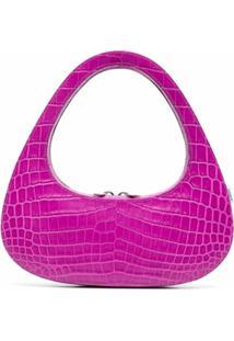 Coperni Baguette Swipe Crocodile-Effect Shoulder Bag - Rosa