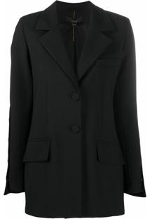 Ellery Wide-Sleeve Single-Breasted Blazer - Preto