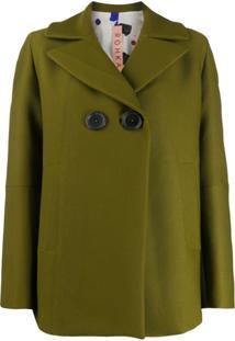 Rohka Corduroy Button Blazer - Verde