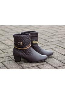 Ankle Boot Dm Extra Marrom Café Dme17383036 Npc Numeração Especial Tamanhos Grandes 41 42 43
