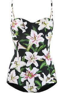 Dolce & Gabbana Maiô Lily - Preto