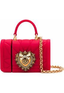 Dolce & Gabbana Porta-Airpods Devotion Mini - Vermelho