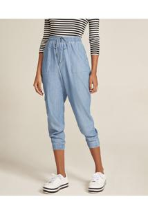 e03bc5e6c6 ... Calça Jeans Feminina Jogger Cargo Azul Claro