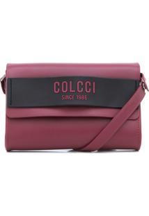Bolsa Colcci Logo Bordô