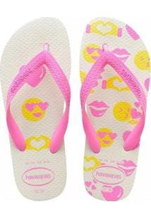 17423c406f Chinelo Havaianas Emojis Silk Feminino - Feminino-Rosa