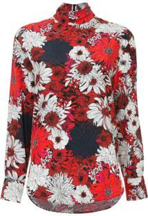 329d1203d6 Ir para a loja  Cédric Charlier Blusa De Seda Floral - Estampado