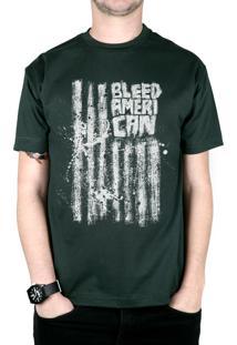 Camiseta Bleed American Dark Flag Musgo