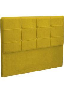 Cabeceira Casal Cama Box 140 Cm London Amarelo - Js Móveis