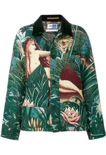 Kenzo Jacquard Jacket - Green