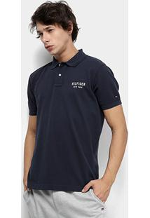 Camisa Polo Tommy Hilfiger Essential Regular Masculina - Masculino-Marinho