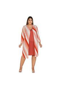Vestido Cardigan Sun Ton Abstract - P - Est/Nud Nude