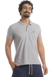 Camisa Polo Piquet Zaiden Style S1 Masculina - Masculino-Cinza Claro