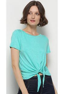Blusa Mercatto Amarração Feminina - Feminino-Verde Claro