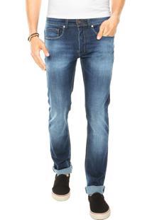 Calça Jeans Redley Cós Slim Azul