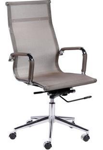 Cadeira Office Eames Em Tela- Cobre & Prateada- 112Xor Design