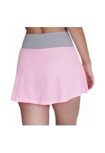 Short-Saia Varal Basic V.Light Mesh Candy Pink- Feminina Multicolorido