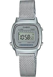 Relógio Casio Feminino Vintage - Feminino-Prata