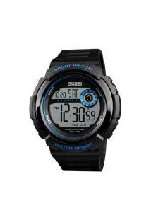 Relógio Skmei Masculino -1367- Preto E Azul