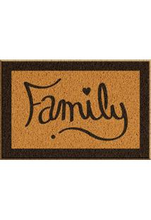 Capacho De Vinil Family Amarelo Único Love Decor