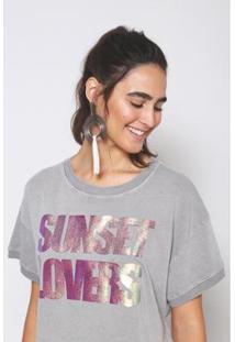 Blusa Sunset Lovers Oh, Boy! - Feminino-Cinza